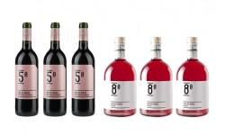 Lar de Maía 5º y 8º (lote de 3 botellas vino Rosado + 3  vino Tinto)